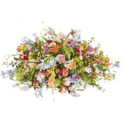 Funeral: Plenty in life Funeral Bouquet Oval