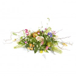 Funeral: Silent words Funeral Bouquet Ovaal
