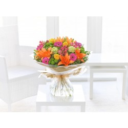 LARGE VIBRANT HAND-TIED