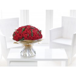 Bukiet 50 czerwonych róż