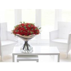 50 róż w bukiecie