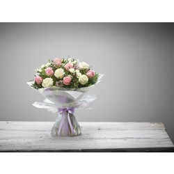 LARGE EXQUISITE ROSE HAND-TIED
