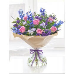 LARGE PRECIOUS PERIWINKLE HAND-TIED