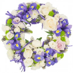 Deep blue wreath