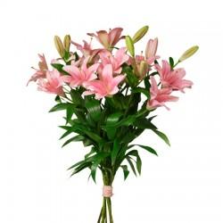 Bukiet różowych lilii