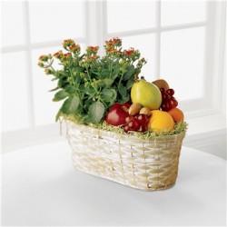 Kosz Kwiaty i owoce