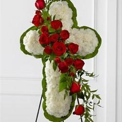 Wieniec Kwiatowy krzyż
