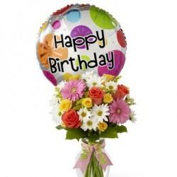 Bukiet urodzinowy z balonem