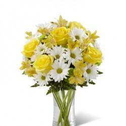 Bukiet biało - żółty
