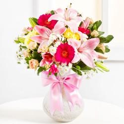 Bukiet niespodzianka w różowym kolorze