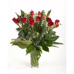 18 czerwonych róż