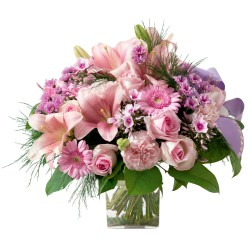 Pink funeral bouquet (without vase)