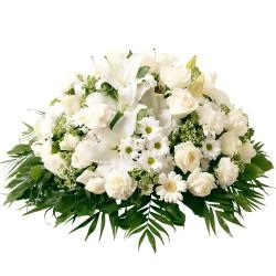 White funeral cuchsion