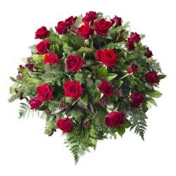 Czerwona wiązanka pogrzebowa