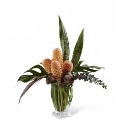 Kompozycja tropikalna z wazonem