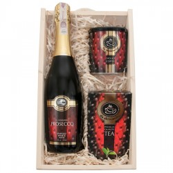 Engraved Gift box with prosecco - red