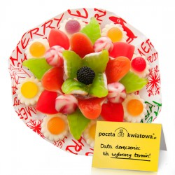 X-mas jelly candy bouquet