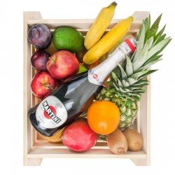 Fruit box with champagne