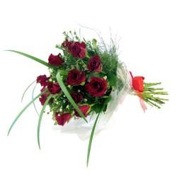 Róże z dekoracją