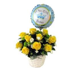 Kwiaty z okazji narodzin chłopca