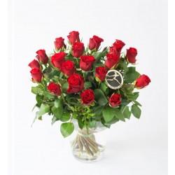 Bukiet czerwonych róż - L