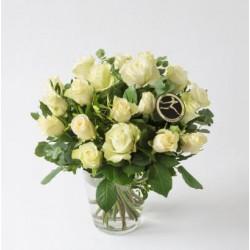 Bukiet kremowych róż - M