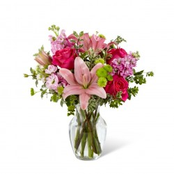 Pink Posh™ Bouquet- VASE INCLUDED