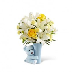 BBH - The Baby Boy Big Hug® Bouquet - VASE INCLUDED