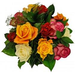 Bukiet mieszanych róż