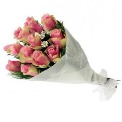 Bukiet różowych róż