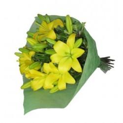 Bukiet żółtych lilii