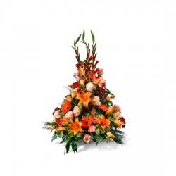 Pomarańczowa kompozycja pogrzebowa