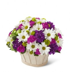 The Blooming Bounty Bouquet Basket included