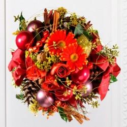 Piękny bukiet na Święta Bożego Narodzenia