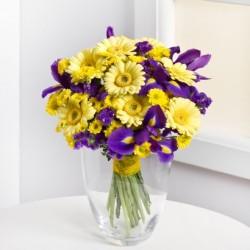 Bukiet mieszany - żółto fioletowy