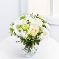 Romantyczny bukiet w białym kolorze