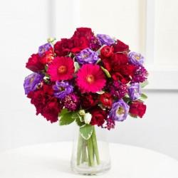 Romantyczny bukiet w fioletowym kolorze