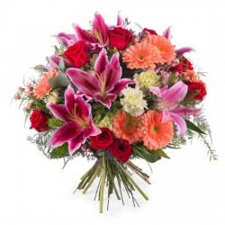 Bukiet z różami i liliami - duży