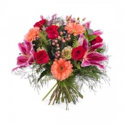 Bukiet z różami i liliami - mały