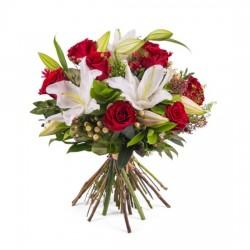 Kompozycja Róże i lilie - M