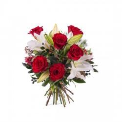 Kompozycja Róże i lilie - mała