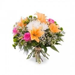 Bukiet wiosenny z liliami średni