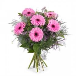 Bukiet różowych gerber - S