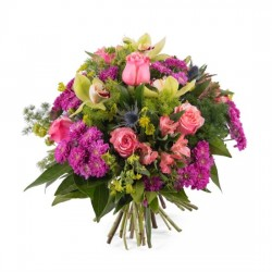 Bukiet z różami i storczykami - S