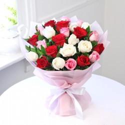 Elegancki bukiet róż