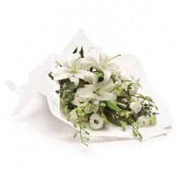 Biały bukiet pogrzebowy
