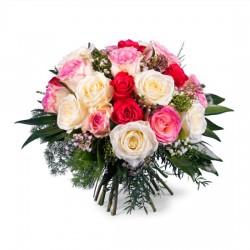20 krótkich kolorowych róż