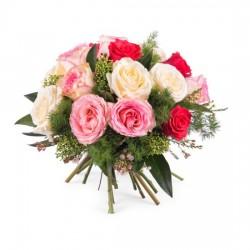 15 krótkich kolorowych róż
