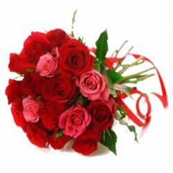 Różowe i czerwone róże
