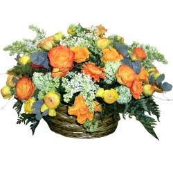 "Basket Arrangement ""Autumn Etude"""
